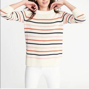 Old Navy multi stripe crewneck knit sweater